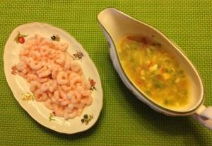 Camarones con salsa vinagreta