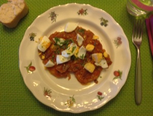 Fil. de lomo de cerdo con salsa de  tomate