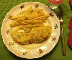 Tortilla de chorizo y perejil