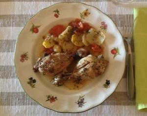 Pollo. Muslos asados con orégano.1