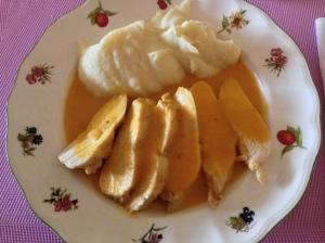 Pechugas de pollo con salsa de naranja