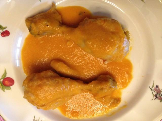 Muslos de pollo con salsa de cava