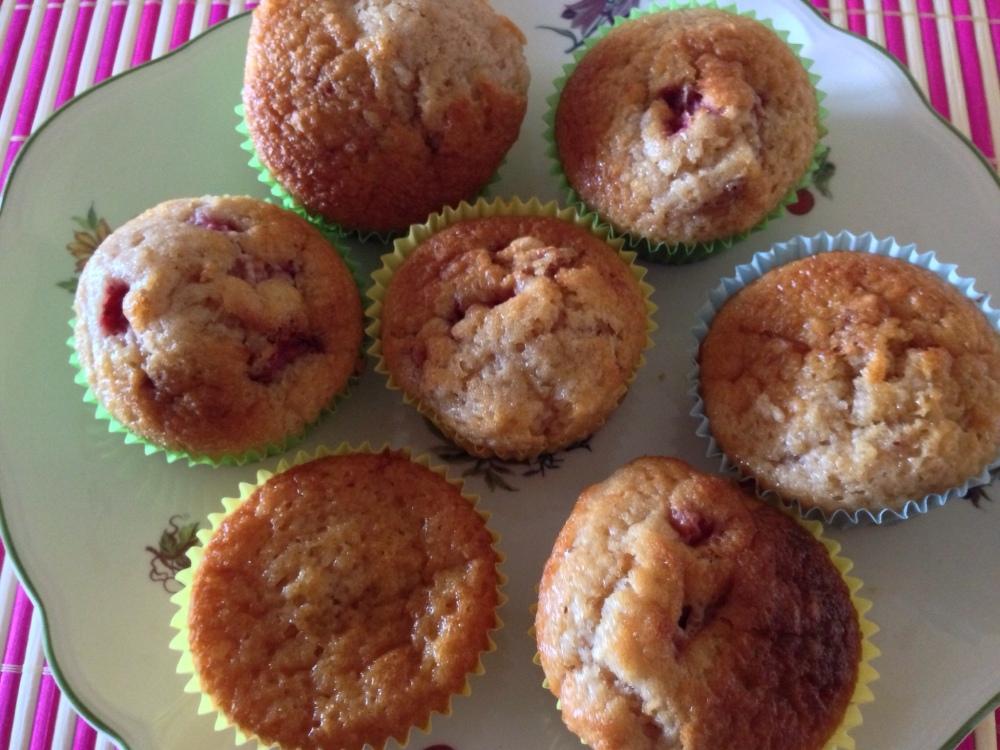 Muffins de fresas