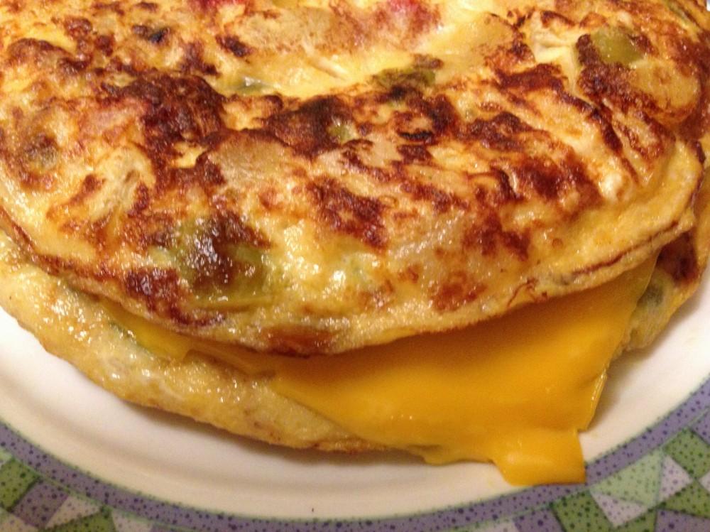 Tortilla de calabacines y queso